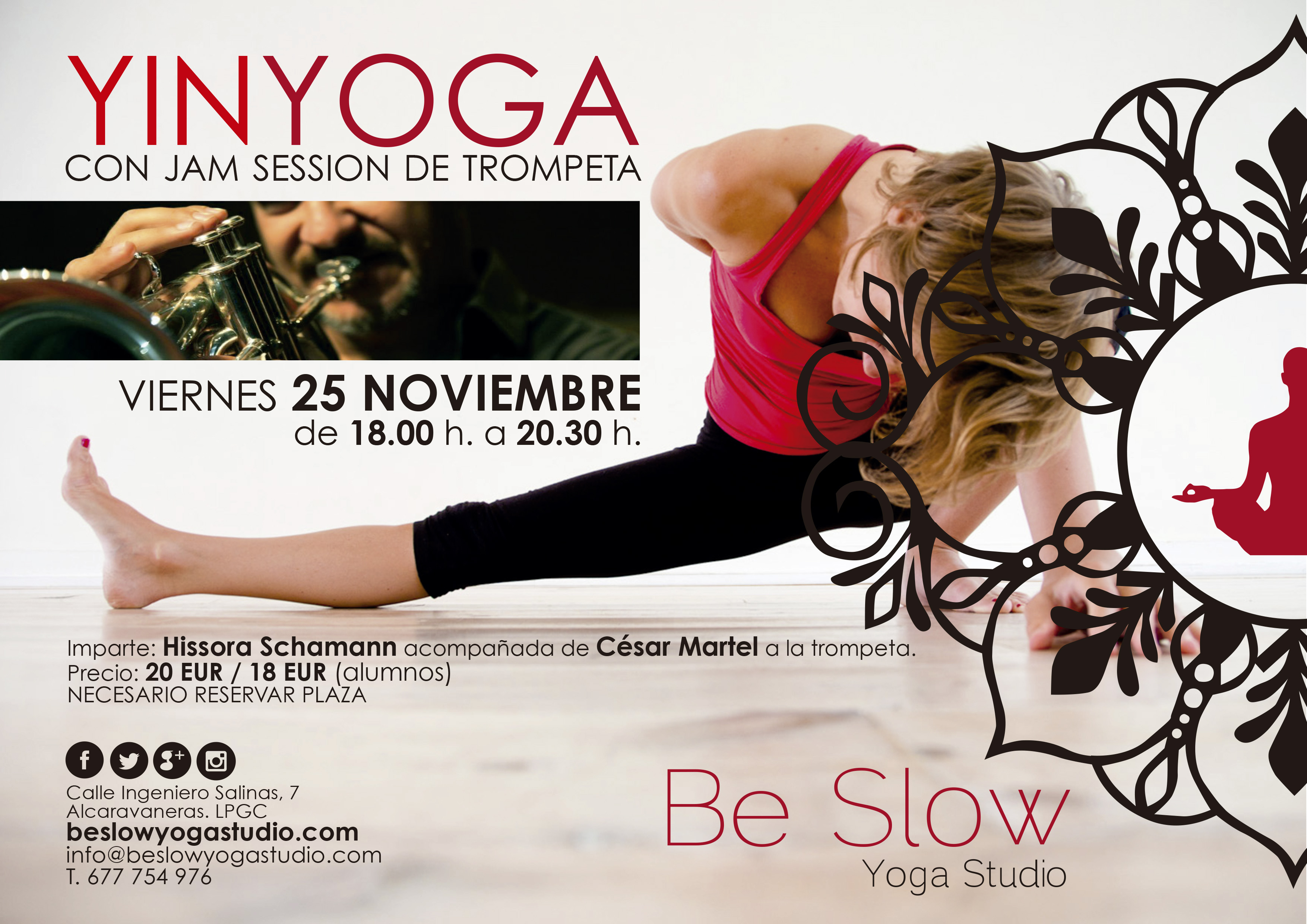 Yin Yoga con Jam Session para este viernes 25 NOV