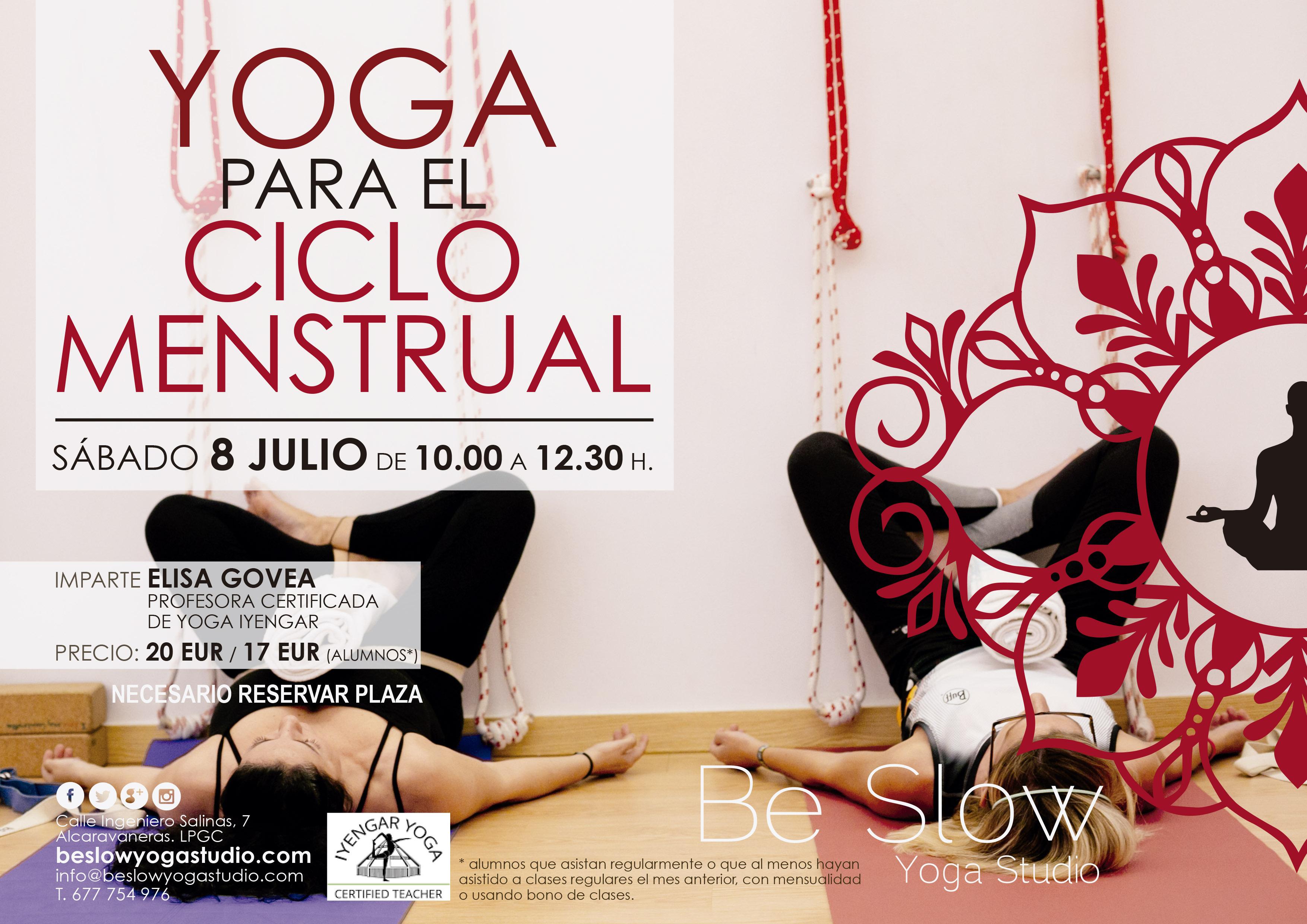 Este Sábado 8 de Julio Taller Especial de Yoga para la Mujer