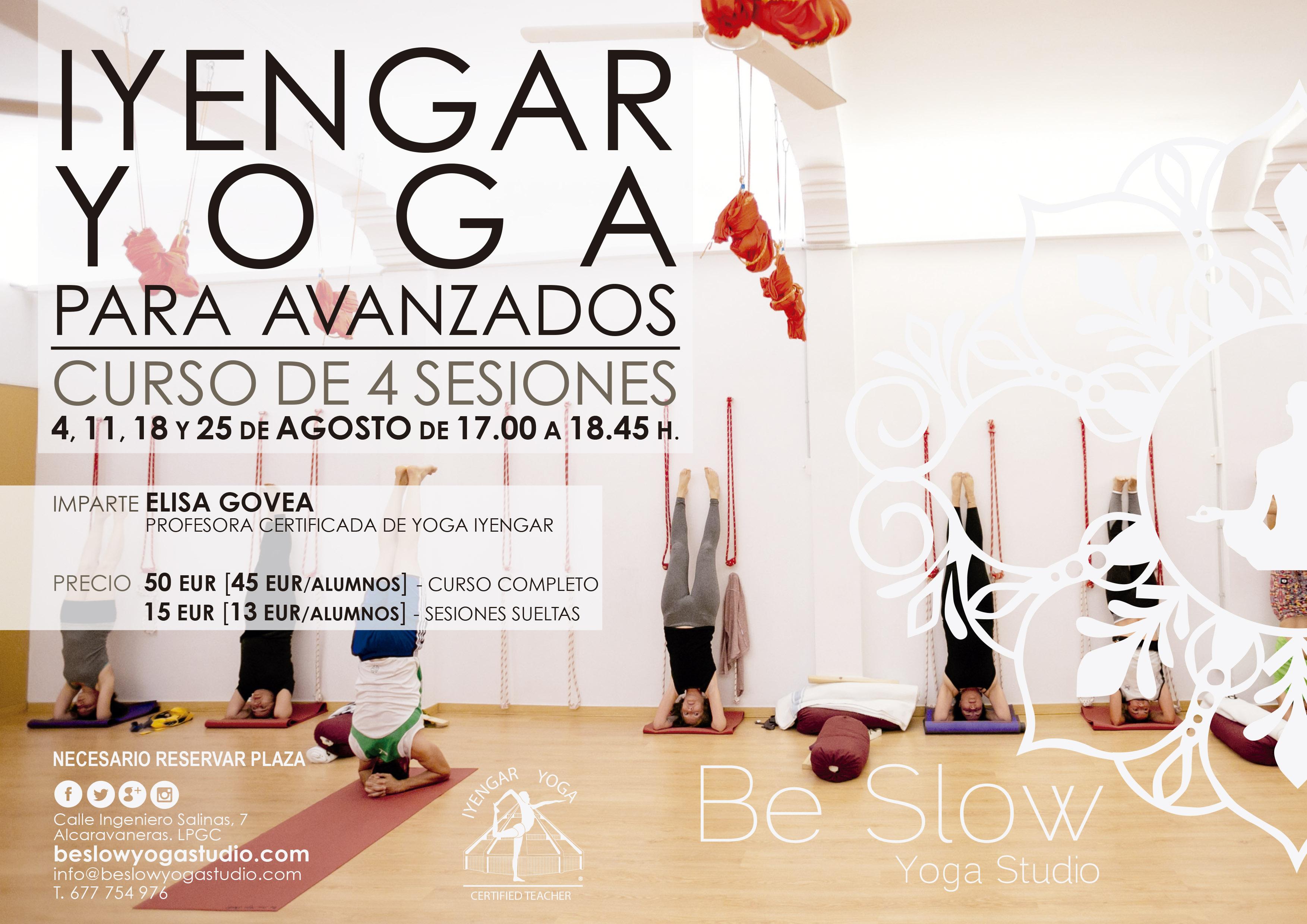 En Agosto comenzamos Curso de Iyengar Yoga para Avanzados