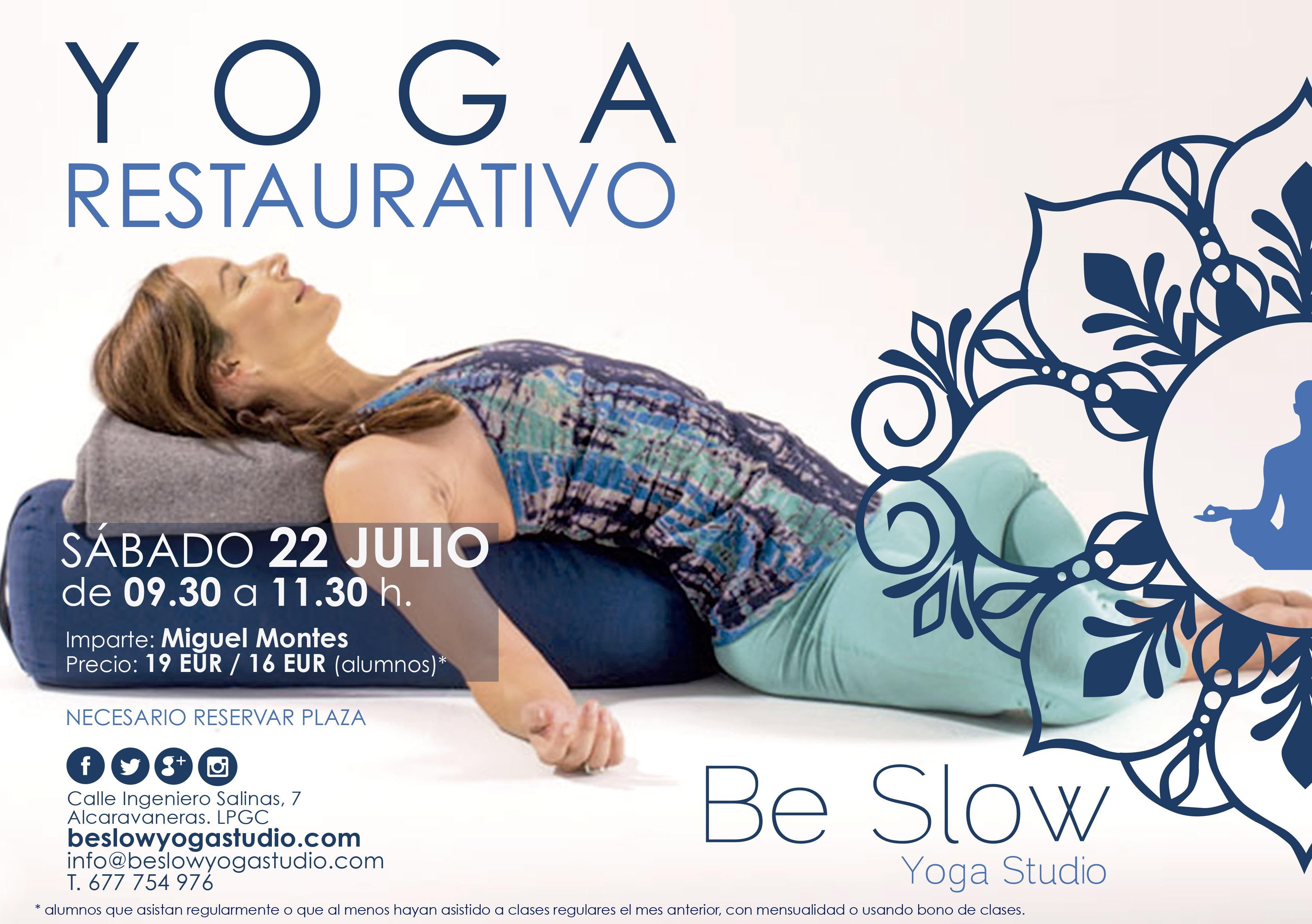 Yoga Restaurativo este sábado volvemos a relajar, reactivar, reconectar…