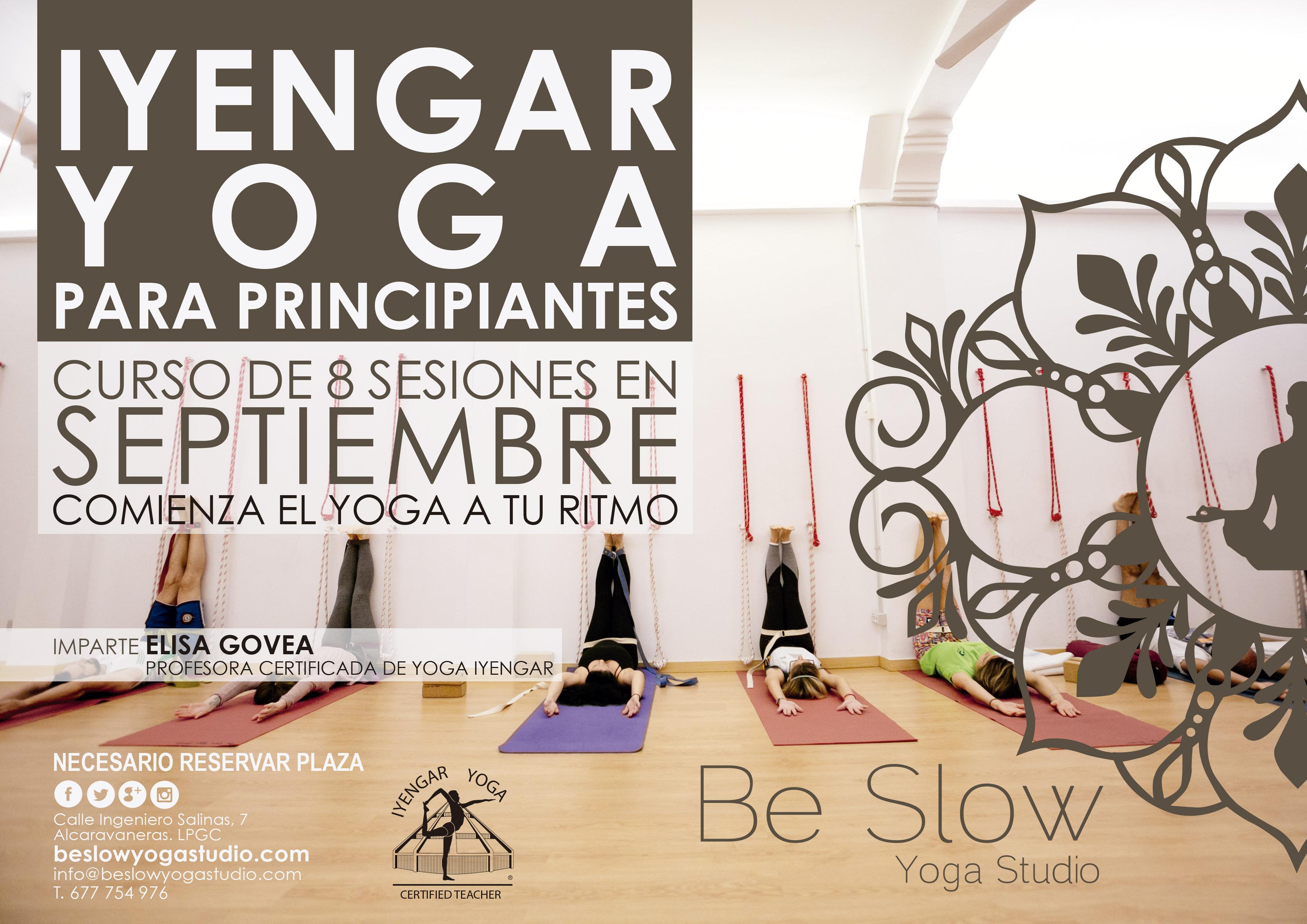 En Septiembre comenzamos Curso de Iyengar Yoga para Principiantes