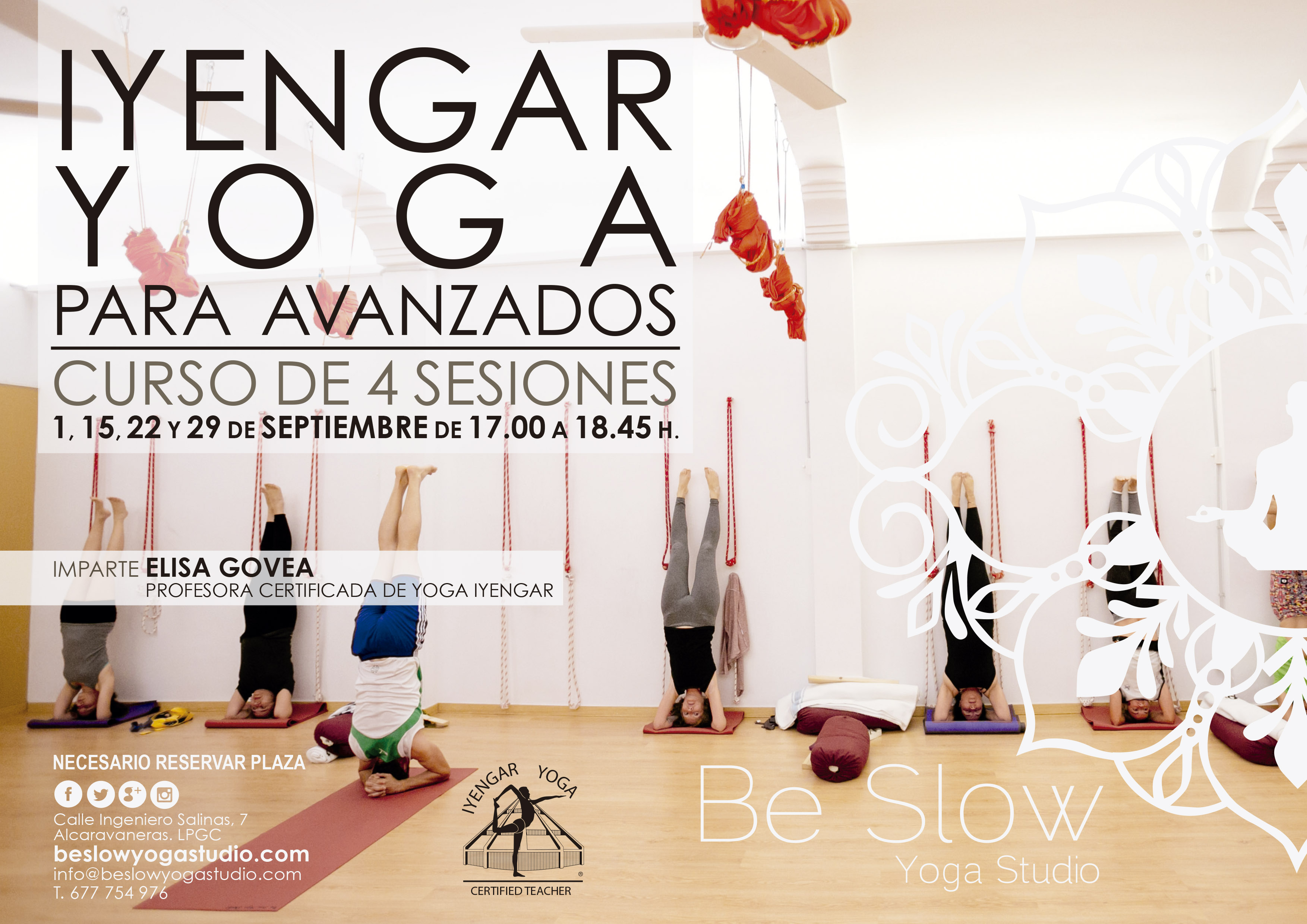 En Septiembre volvemos con un Curso de Iyengar Yoga para Avanzados