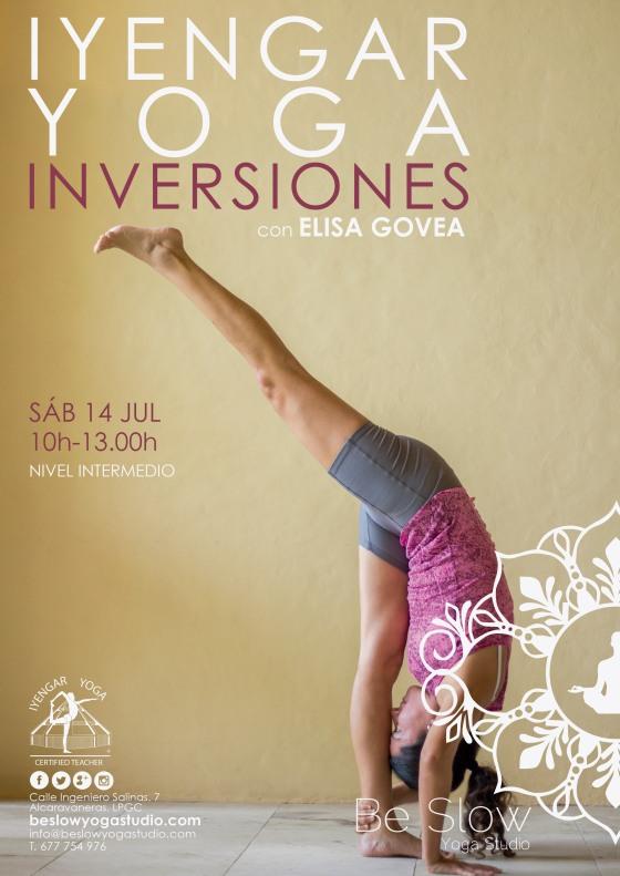 Este sábado Taller Intensivo Iyengar Yoga de posturas Invertidas