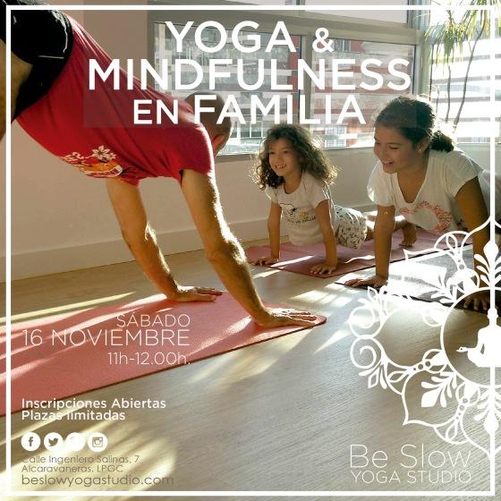 Este sábado Taller de Yoga & Mindfulness en Familia
