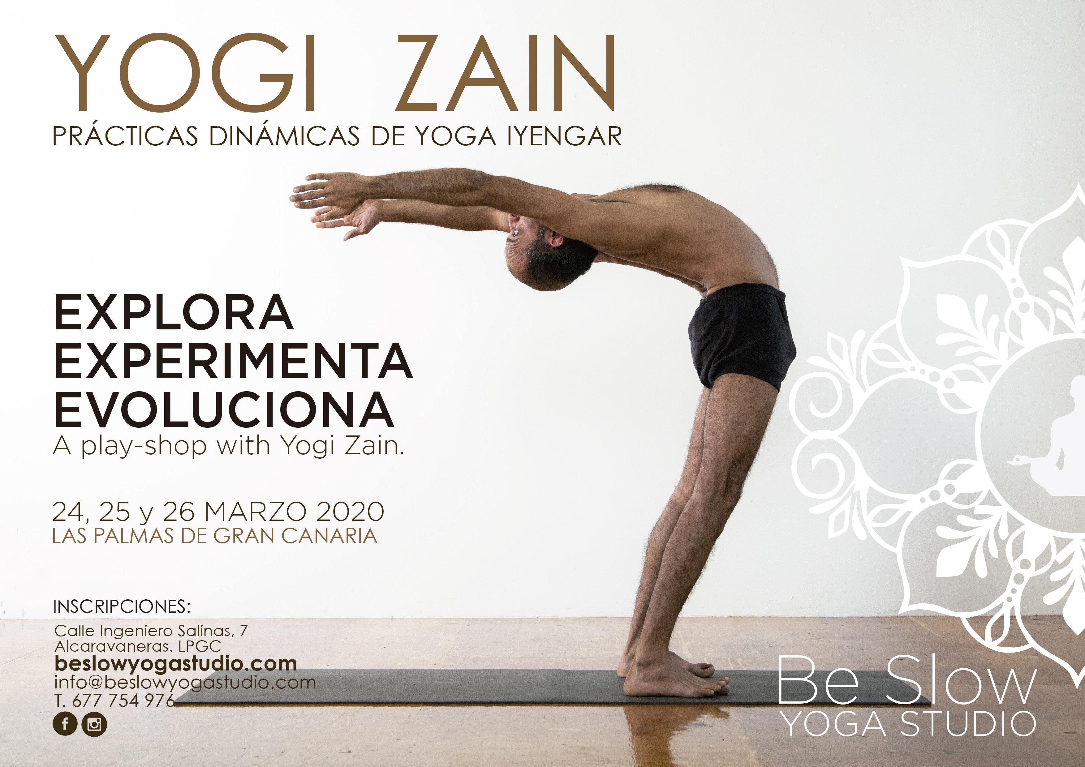 Talleres de Yoga Iyengar Dinámico con Yogi Zain en Marzo.